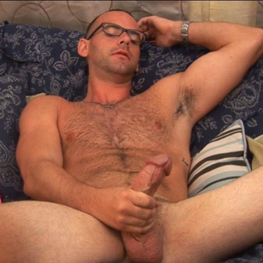 Sexy gay a cock throbbing wank off