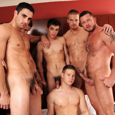 6-man gangbang - Men.com photo gallery