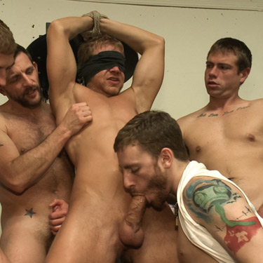 Bound in public gay porn