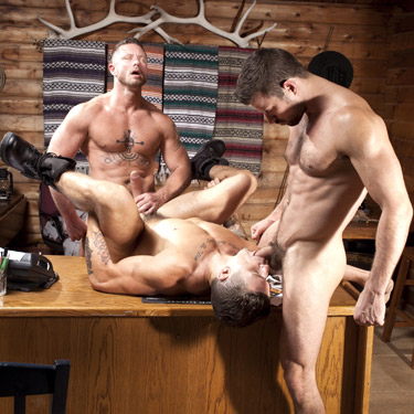 Charlie Harding and Trenton Ducati fuck Kyle King - Raging Stallion photo gallery