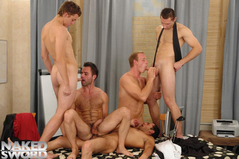 8-Man Orgy - Naked Sword  Bananaguide-8920