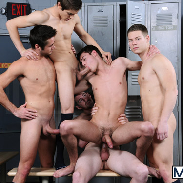 5-man Orgy - Men.com photo gallery