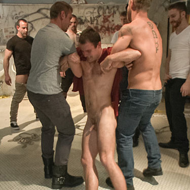Cameron Kincade gets gang banged - Bound in Public photo gallery
