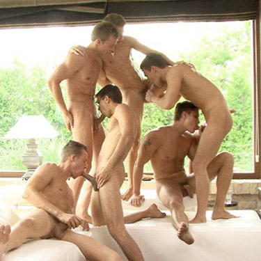 6-man orgy - Bel Ami Online photo gallery