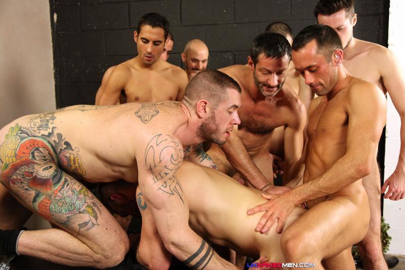 9-Man Orgy - Uk Naked Men  Bananaguide-8016