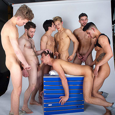 7-man orgy - Cocky Boys photo gallery