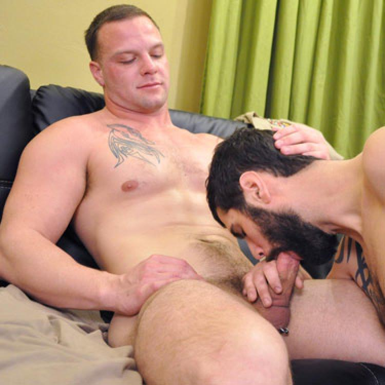 Gay man eating raw cum and free big black