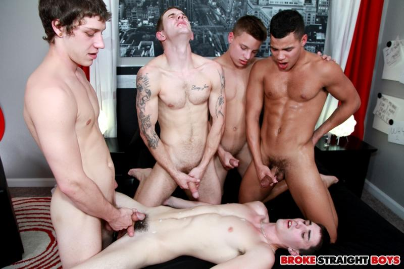 Broke straight boys orgy
