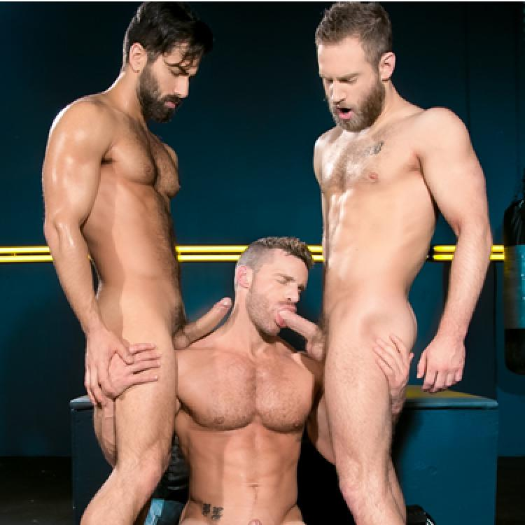 Landon Conrad and Adam Ramzi fuck Shawn Wolfe - Raging Stallion photo gallery