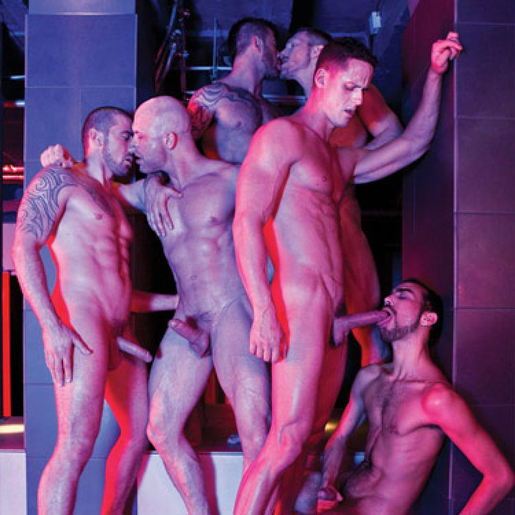 9-man orgy - Raw - Lucas Entertainment photo gallery