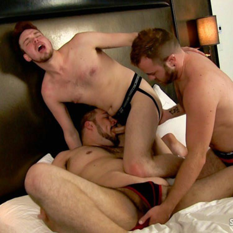 image Stocky gay latin men cum loving cock suckers