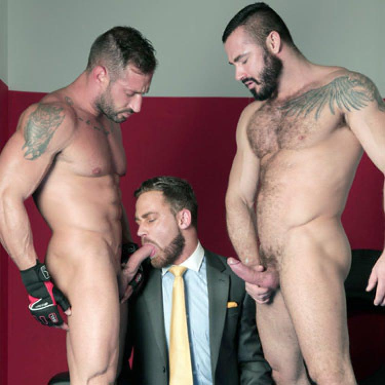 Logan Moore, Jessy Ares and Roca - Men at Play photo gallery