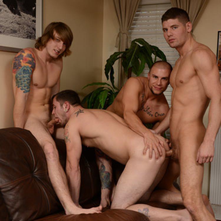 Connor Halstead, Eli Hunter, Jared Summers and Tom Faulk - Men.com photo gallery