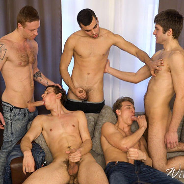 5-man Orgy - Raw - William Higgins photo gallery