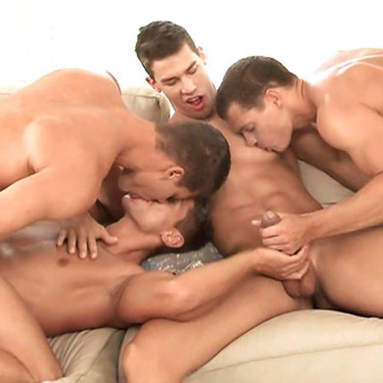 Kris Evans, Rhys Jagger, Jean-Daniel and Julien Hussey - Raw - Bel Ami Online photo gallery