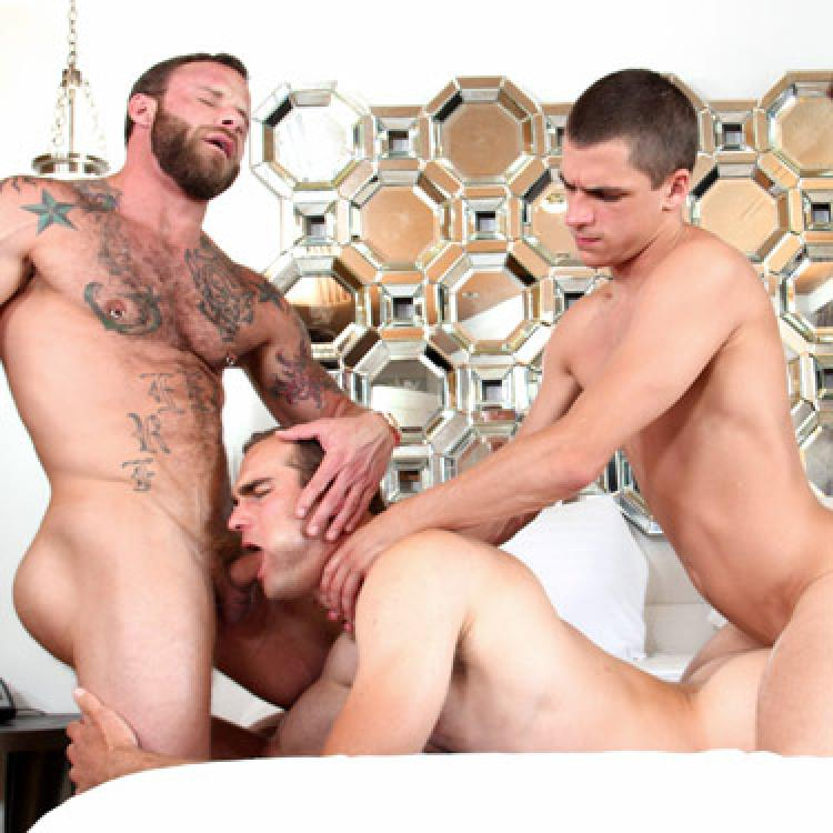 Kory Houston, Jonah Marx and Derek Parker - Gay Room photo gallery