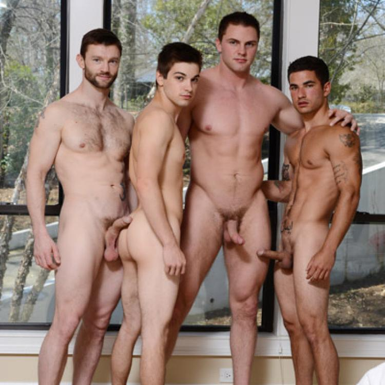 Johnny Rapid, Vadim Black, Dennis West and Jake Wilder - Raw - Juicy Boys photo gallery