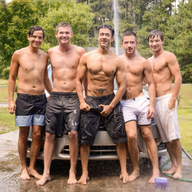 Rafael Alencar, Dylan Knight, Jack Radley, Zac Stevens and Johnny Rapid - Men.com photo gallery