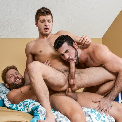 Colby Jansen, Billy Santoro and Johnny Rapid - Men.com photo gallery