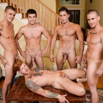 Johnny Rapid, Bennett Anthony, Adam Bryant,  Armando De Armas and Darin Silvers - Men.com photo gallery