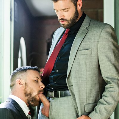 Xavier Jacobs bottoms for Sergeant Miles - Raw - Lucas Entertainment photo gallery