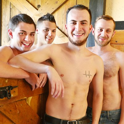 David Hardy, Chandler Scott, Gage Owens and Tyler Griffin - Raw - Broke Straight Boys photo gallery