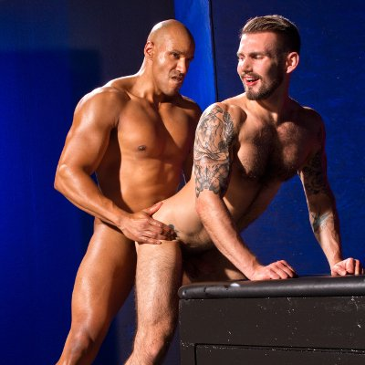 Michael Thomas drills Chris Harder - Raging Stallion photo gallery