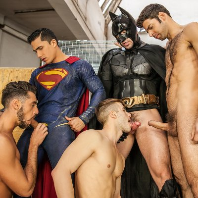 Topher DiMaggio, Trenton Ducati, Allen King, Massimo Piano and Dario Beck - Men.com photo gallery