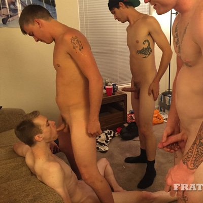 Tyler, Mickey, John and Jessie - Raw - Fraternity X photo gallery