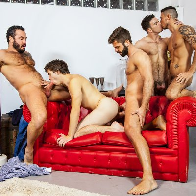 Paddy O'Brian, Will Braun, Hector de Silva, Jessy Ares and Klein Kerr - Men.com photo gallery