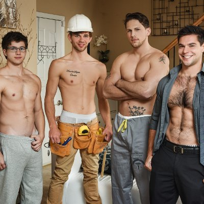 4-man orgy - Men.com photo gallery