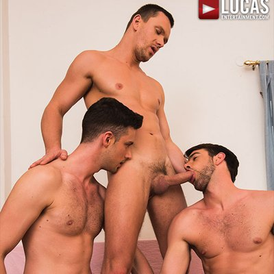 Damon Heart and Andrey Vic double team Zander Craze - Raw - Lucas Entertainment photo gallery