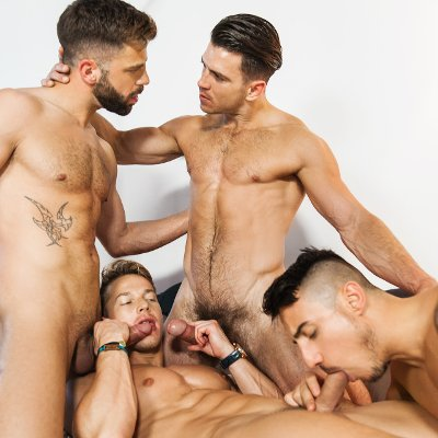 Paddy, Darius, Klein and Hector  - Men.com photo gallery