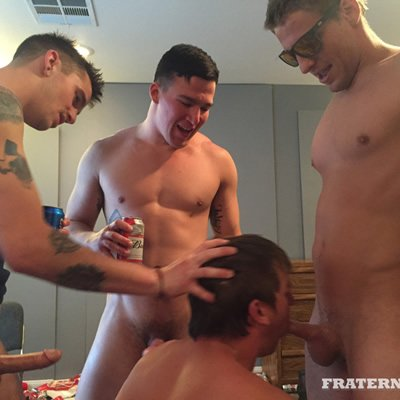 Slobbering hole fuck - Raw - Fraternity X photo gallery