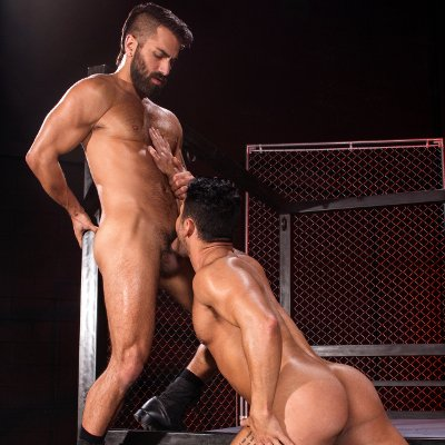 Adam Ramzi hammers Bruno Bernal - Raging Stallion photo gallery