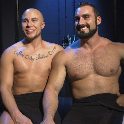 Eli Hunter submits to Jaxton Wheeler - Bound Gods photo gallery
