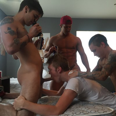 Rod, Gauge, Russell, Damien, Caleb and Seth - Raw - Fraternity X photo gallery