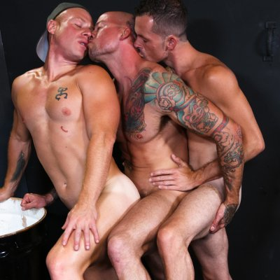 Sean Duran, Jimmie Slater and Saxon West - Pride Studios photo gallery