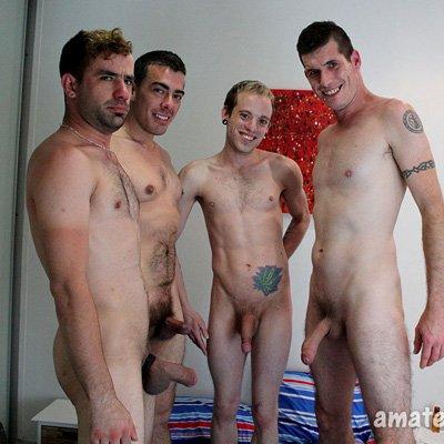 4-Way with Harvey, Hunter, Leo and Levi - Amateurs Do It photo gallery