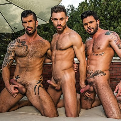 James Castle, Adam Killian and Mario Domenech - Raw - Lucas Entertainment photo gallery
