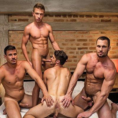 Devin and Bogdan bottom for Stas and Roman - Raw - Lucas Entertainment photo gallery