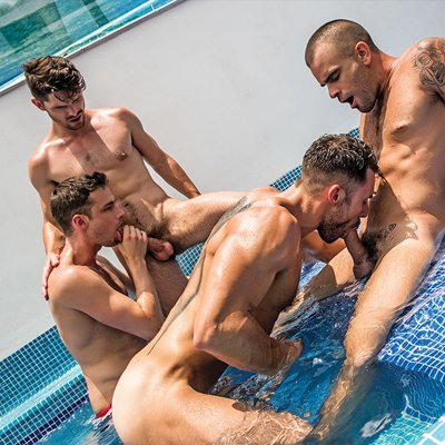 5-man Orgy - Raw - Lucas Entertainment photo gallery