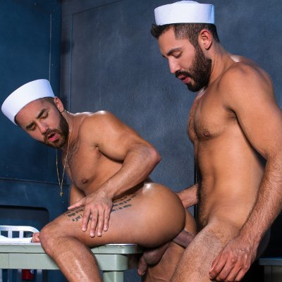 Gabriel Taurus pounds Bruno Bernal - Raging Stallion photo gallery