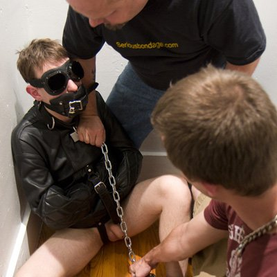 Mikey and Daddy Tony dominate a young man - Serious Male Bondage photo gallery