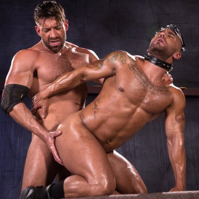 Bruce Beckham dominates Bruno Bernal - Raging Stallion photo gallery