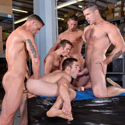 5-man orgy - Falcon Studios photo gallery