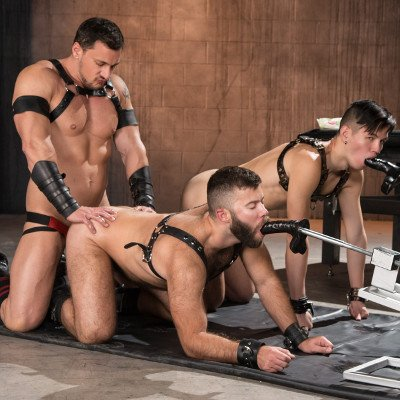 Butt play with Gage Lennox, Joey D and Issac Lin - Club Inferno Dungeon photo gallery
