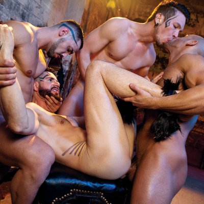 4-man fuckfest - Falcon Studios photo gallery
