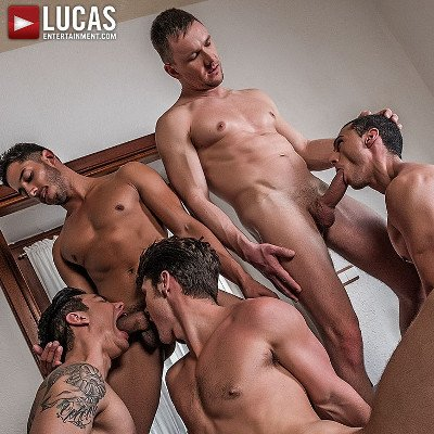 5-man gangbang - Raw - Lucas Entertainment photo gallery