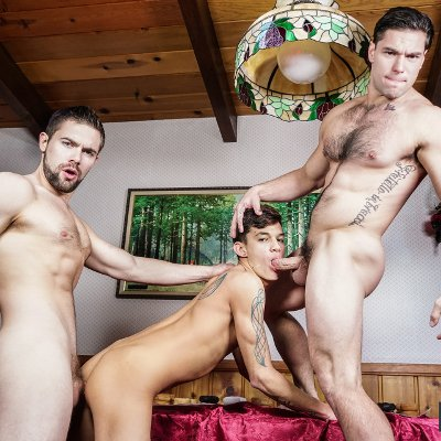 Griffin Barrows, Xander Brave and Aspen - Men.com photo gallery